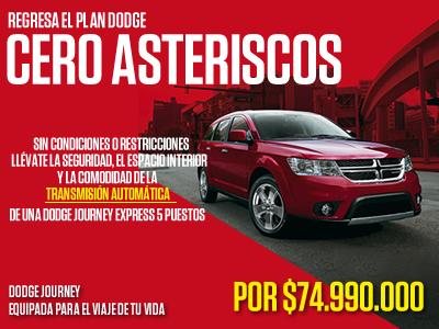 Plan Dodge Cero Asteriscos